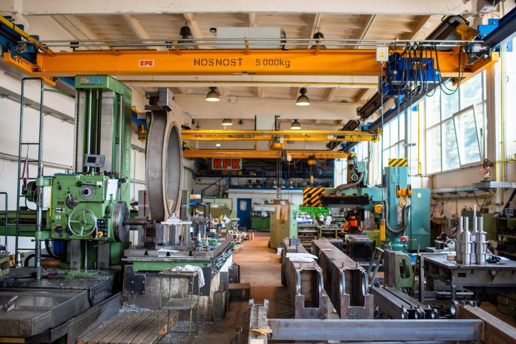 Časť mechanickej dielne