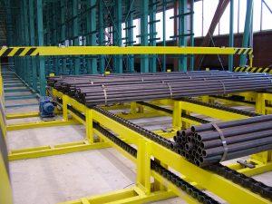 Material on conveyor