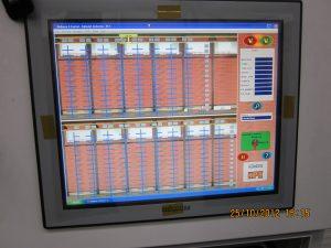 Pohľad na ovládaciu obrazovku zakladača
