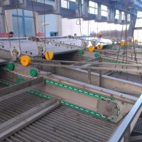 Monorail crane for input hatching