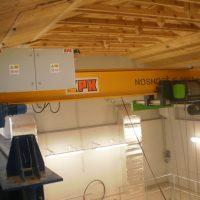 Overhead bridge crane for maintenance of technology