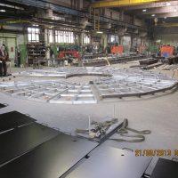 Auxiliary aluminum platform for repairing of turbine