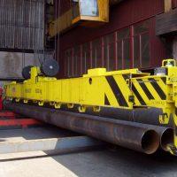 Teleskopická traverza na manipuláciu s rúrami 8000 kg