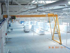 Semiportal crane 8 t
