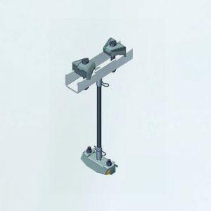 Suspension pendulating from rod, adjustable (item.8)