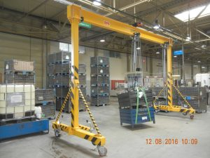Single girder portal crane 2t