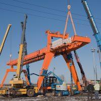 Double girder portal crane 50t/20t - 1