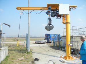 Slewing jib pillar crane 0,5t