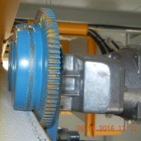 Detail pojazdového kolieska retiazkového kladkostroja