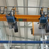 Jednonosníkový mostový žeriav 2500 kg + 2500 kg