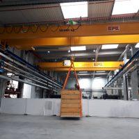 Dvojnosníkový mostový žeriav 30000 kg