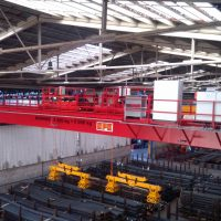 Double girder overhead crane 5t+5t