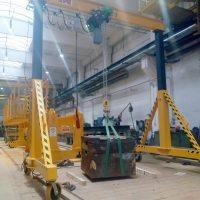 Single girder gantry crane 3,2t with adjustable height