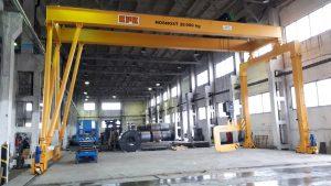Double girder gantry crane 28t