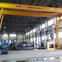 Dvojnosníkový portálový žeriav 28000 kg