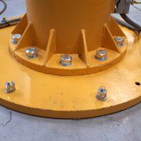 Detail kotvenia cez kruhovú roznášaciu dosku