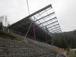 General view of the retractable stadium roof