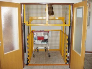 The platform for transporting material without persons