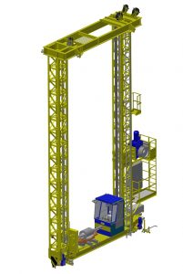 Regálový zakladač - celkový pohľad 2000 kg